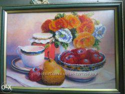 Картина вишита бисером Натюрморт