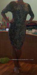 классное фирменное леопардовое платье    р с-м состояние нового
