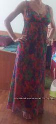 Очень красивое, яркое  платье   Injoy   в пол, р42 на хс-с, состояние но