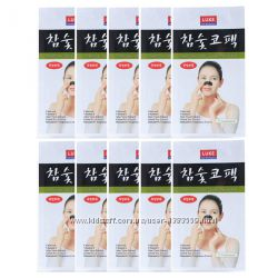 Очищающие угольные полоски для носа Luke Charcoal Nose Cleansing Strips
