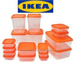 Набір харчових контейнерів PRUTA. IKEA.