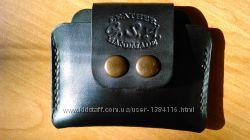 Кожаный кошелек, мини, ручной работы
