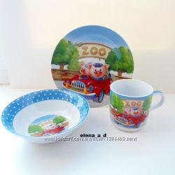 Наборы посуды для детей из 3-ёх предметов