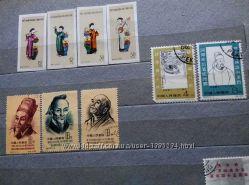 Продам марки КНР. 1955 г. , 1962 г.
