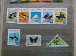 Продам марки Вьетнама. Птицы 1966 г