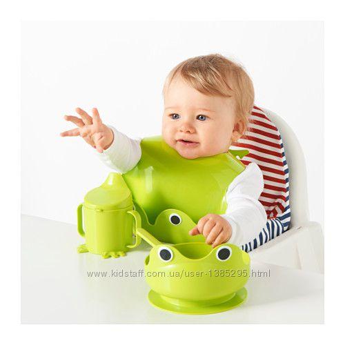 В наличии ikea Mata Набор посуды Икеа Мата Жабка для детей