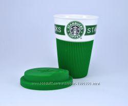 Керамический стакан Термокружка Starbucks 008 Green