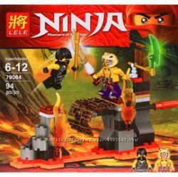 Конструктор Ninja 79084, над лавой, ниндзяго, фигурки, ниндзя