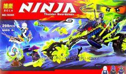 Конструктор Bela Ninja 10395, Засада на мотоцикле, ниндзя