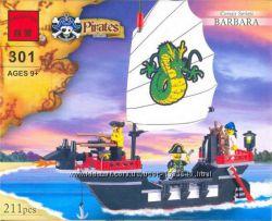 Конструктор Brick 301 Барбара, пираты, корабль, пиратский корабль