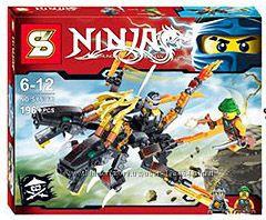 Конструктор SY536AB дракон Коула, дракон Зейна, ниндзяго, ниндзя