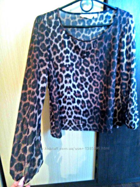 Блузка С Леопардовым Принтом В Уфе