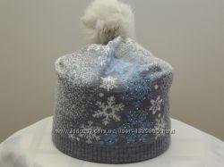 Шапка снежинки комбинированные