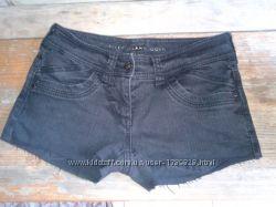 Шорты джинсовые черные