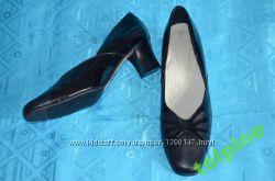 Туфли кожаные черные, кожа натуральная. Распродажа