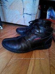 ботинки кожаные зимние на подростка р. 39
