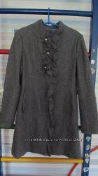 Пальто для леди стильное серое р. 140, шерсть