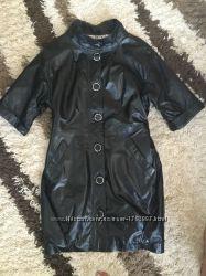 Куртка тренч кожаная новая