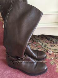 Кожаные коричневые сапоги
