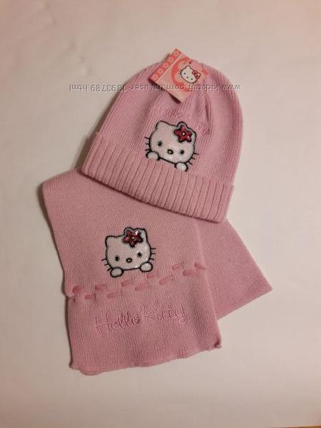 Шапка и шарф Hello Kitty, набор