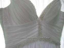 Свадебное платье для невысоких-розшито бисером