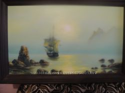 Картина Восход солнца на море