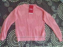 Нарядный новый свитерок крупной вязкой LC Waikiki и серая спортивная кофта