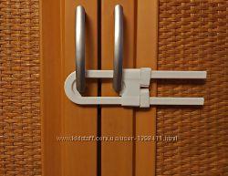 Блокиратор для створчатой распашной двери с ручками, защита детская.