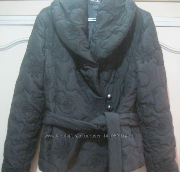 Куртка женская деми черная размер 46-48