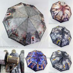 Премиум зонты автомат Осенние мотивы от ТМ Universal