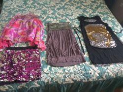 Пакет одежды для праздника со стразами 11-12 лет