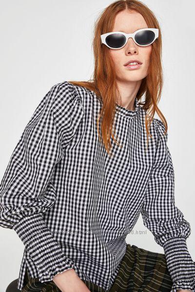 Тренд сезона. Блуза Zara в клетку. Оригинал, Испания